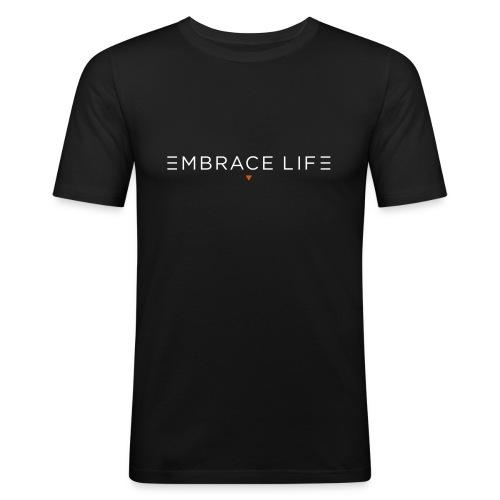 embrace life print - Men's Slim Fit T-Shirt