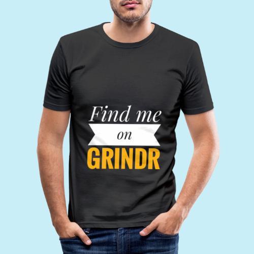 Trouve moi sur Grindr - T-shirt près du corps Homme