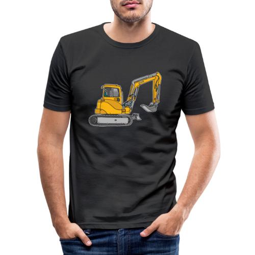 BAGGER, gelbe Baumaschine mit Schaufel und Ketten - Männer Slim Fit T-Shirt