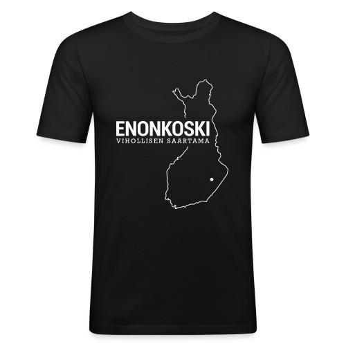 Kotiseutupaita - Enonkoski - Miesten tyköistuva t-paita