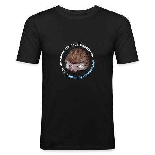 Igel blau ohne Kontur - Männer Slim Fit T-Shirt
