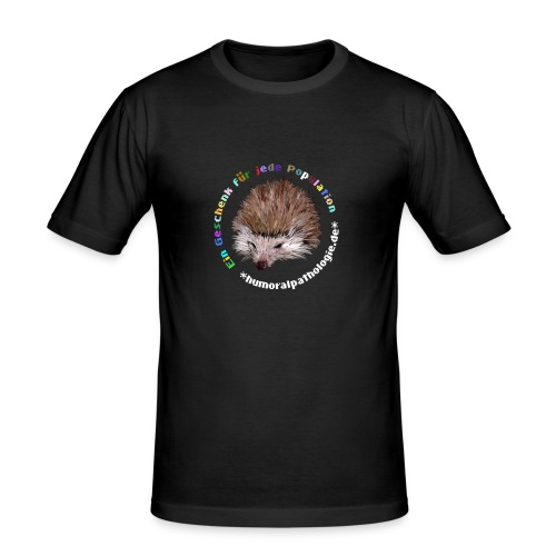Igel bunt ohne Kontur - Männer Slim Fit T-Shirt