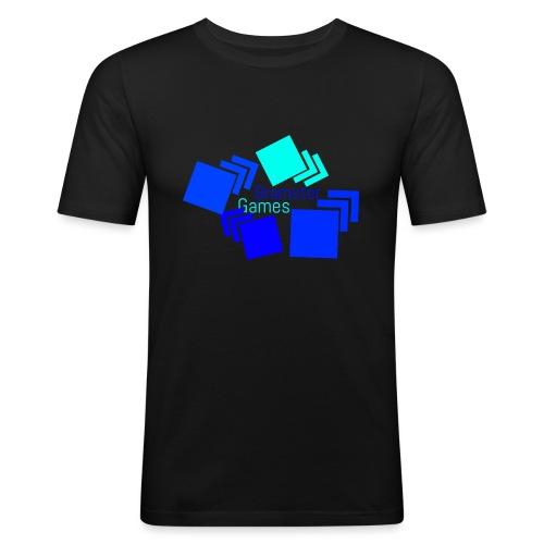Bramster Games Nieuw Logo - Mannen slim fit T-shirt