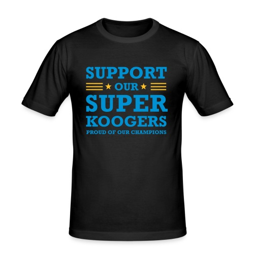 support our superkoogers - Mannen slim fit T-shirt