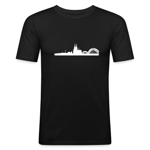 Köln-Skyline - Männer Slim Fit T-Shirt