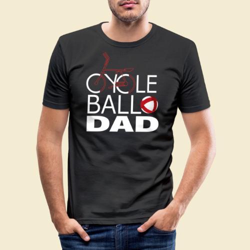 Radball   Cycle Ball Dad - Männer Slim Fit T-Shirt