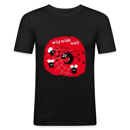 wild wide web - T-shirt près du corps Homme