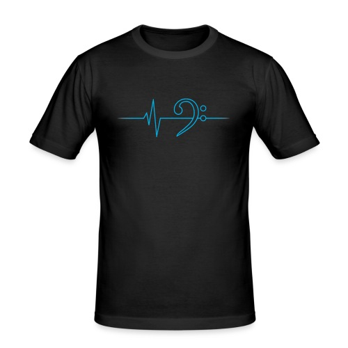 LowHeartBeat cyan - Männer Slim Fit T-Shirt