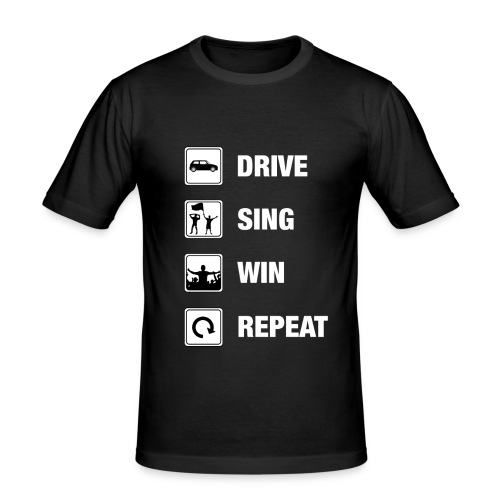 Dring Sing Win Repeat - T-shirt près du corps Homme