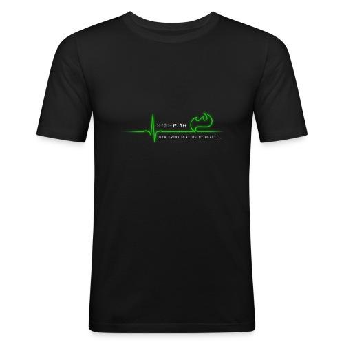 Heartbeat - Männer Slim Fit T-Shirt