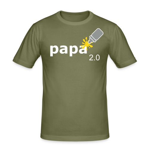 Papa_2-0 - Männer Slim Fit T-Shirt