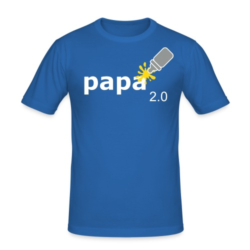 Papa_2-0 - Männer Slim Fit T-Shirt