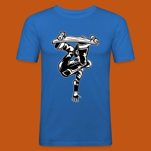 Skater / Skateboarder 03_schwarz weiß - Männer Slim Fit T-Shirt