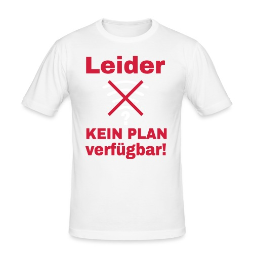 Wlan Nerd Sprüche Motiv - Männer Slim Fit T-Shirt