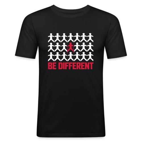 Nordic Walking - Be Different - Miesten tyköistuva t-paita