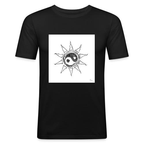 sole yin yang - Maglietta aderente da uomo