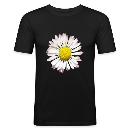 TIAN GREEN - Gänse Blümchen - Männer Slim Fit T-Shirt