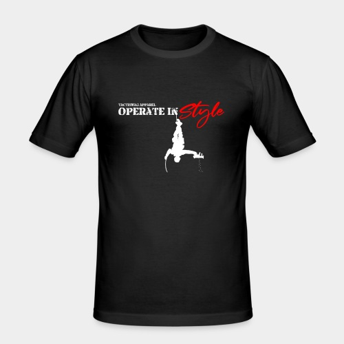 Hang in there & operate in style - Men's Slim Fit T-Shirt