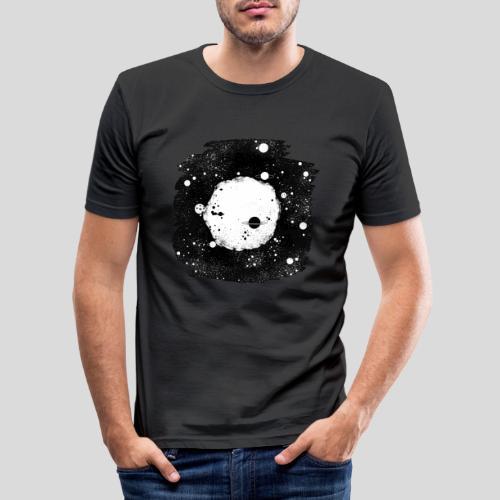 Mond Universum - Männer Slim Fit T-Shirt