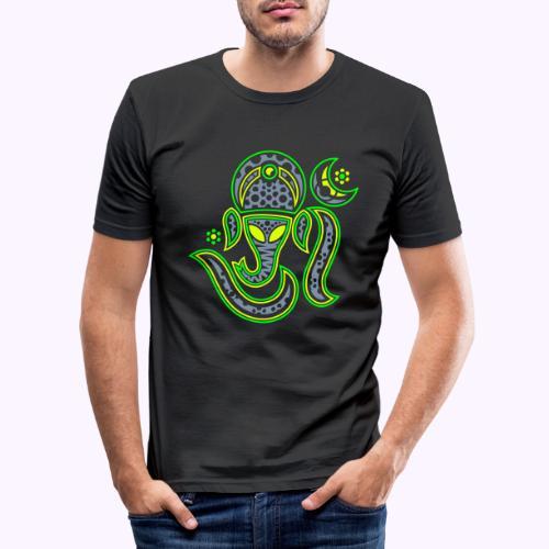Aum Ganesha 3 Color - Men's Slim Fit T-Shirt
