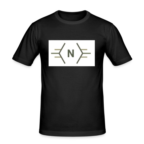 N exclusive logo - Mannen slim fit T-shirt