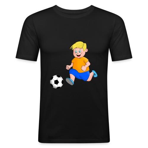 Junger Fußballer - Männer Slim Fit T-Shirt