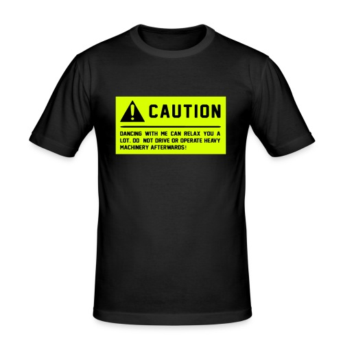 Caution - Männer Slim Fit T-Shirt