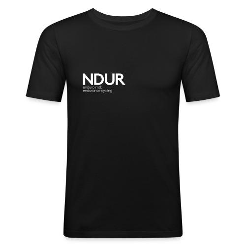 NDUR Schriftzug - Männer Slim Fit T-Shirt
