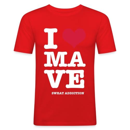 I Love Mave - Miesten tyköistuva t-paita