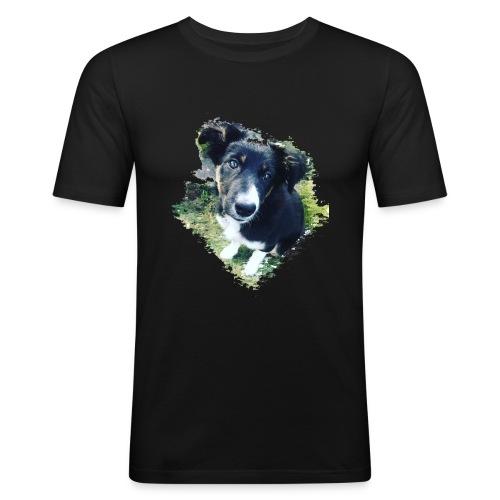 colliegermanshepherdpup - Men's Slim Fit T-Shirt