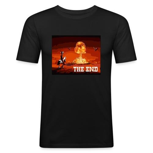 THE END (version 2 : pour toute couleur de fond) - T-shirt près du corps Homme
