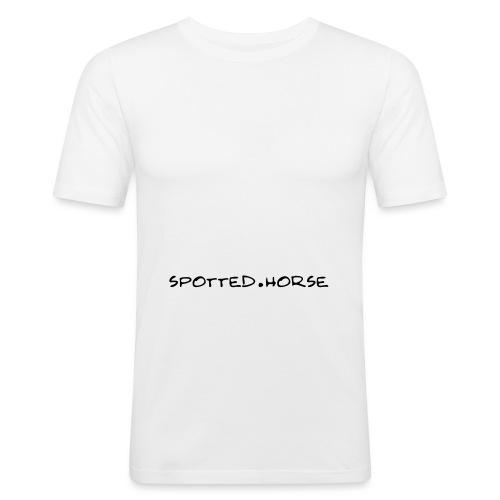 Cuore Appaloosa (bianco/rosso) - Maglietta aderente da uomo
