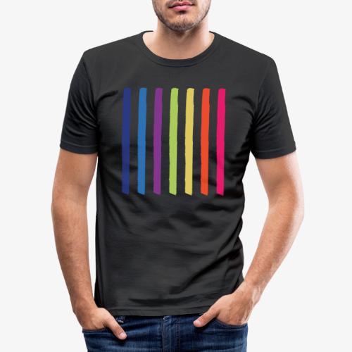 Linee - Maglietta aderente da uomo