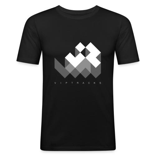 LOGO VIPTRACKS RELEASES - Mannen slim fit T-shirt