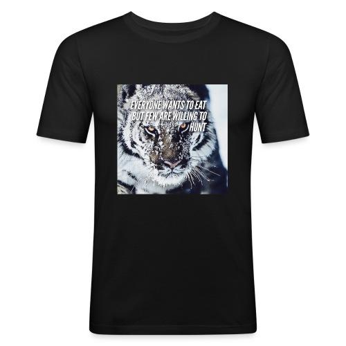 Eat Hunt - Mannen slim fit T-shirt
