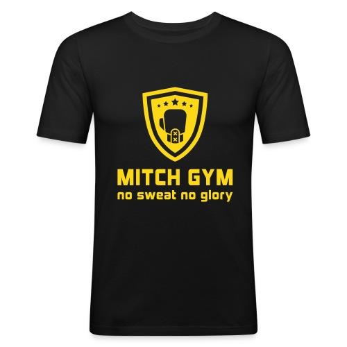 Mitch gym Logo - Mannen slim fit T-shirt