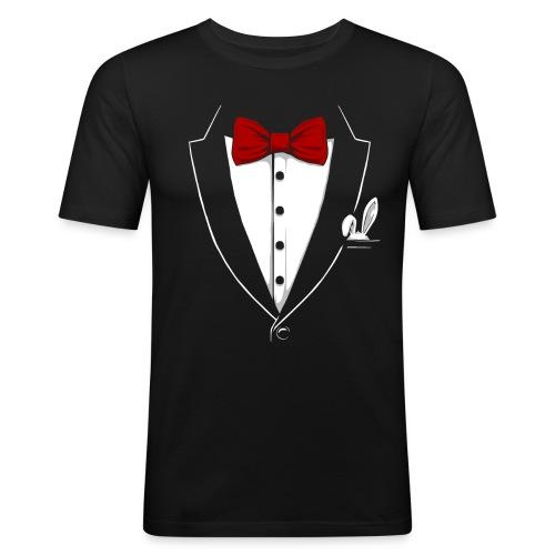 Tuxedo 4 - Männer Slim Fit T-Shirt
