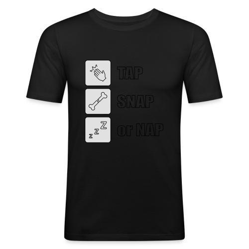 tap snap or nap - Obcisła koszulka męska