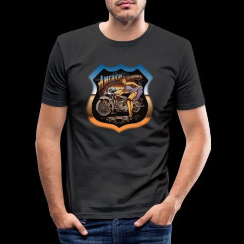 AMERICAN CLASSIC - Männer Slim Fit T-Shirt
