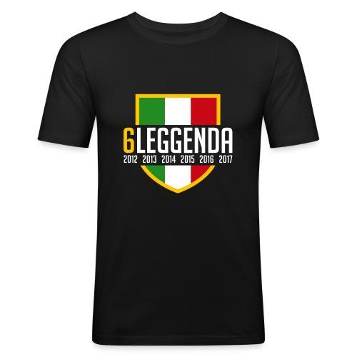 6LEGGENDA BLACK - Maglietta aderente da uomo