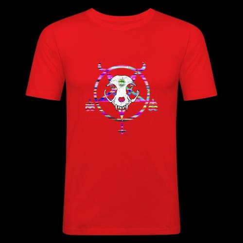 glitch cat - T-shirt près du corps Homme