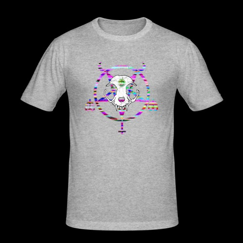 glitch cat - T-shirt près du corps Homme