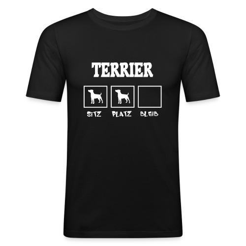 Terrier SITZ PLATZ BLEIB - Männer Slim Fit T-Shirt