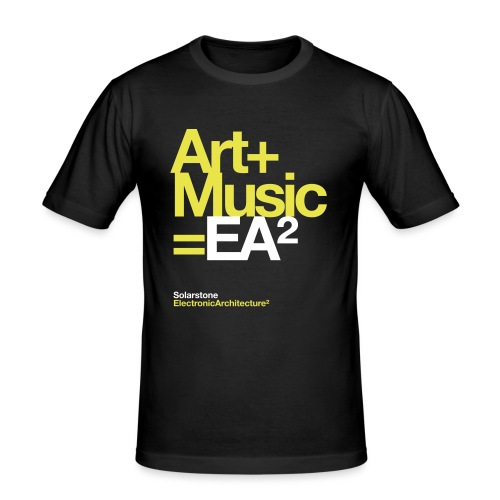 ssea2yelowwhiteonblacktshirt - Men's Slim Fit T-Shirt