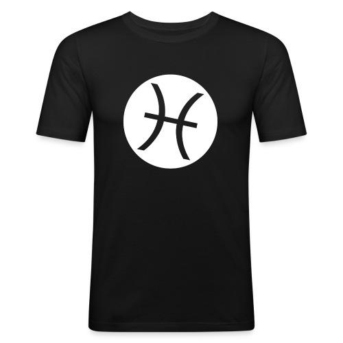 LOGO transparent - Männer Slim Fit T-Shirt