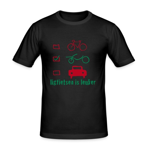 ligfietsen is leuker - Mannen slim fit T-shirt