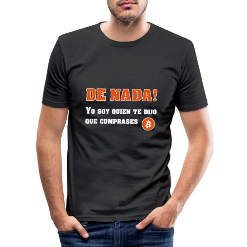 Bitcoin gracias a mí - Camiseta ajustada hombre