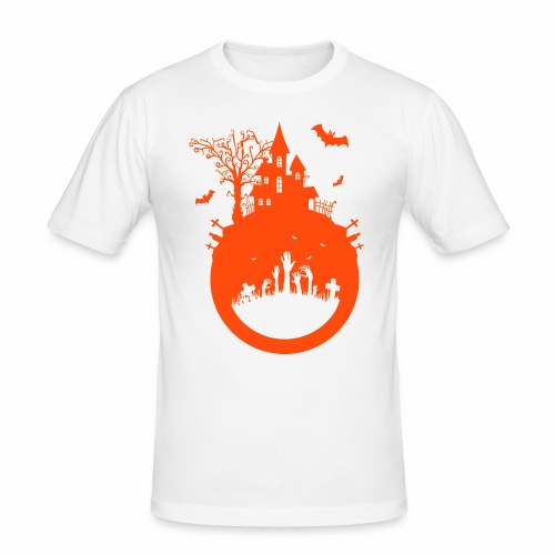 Halloween Design - Das Spukhaus - Männer Slim Fit T-Shirt