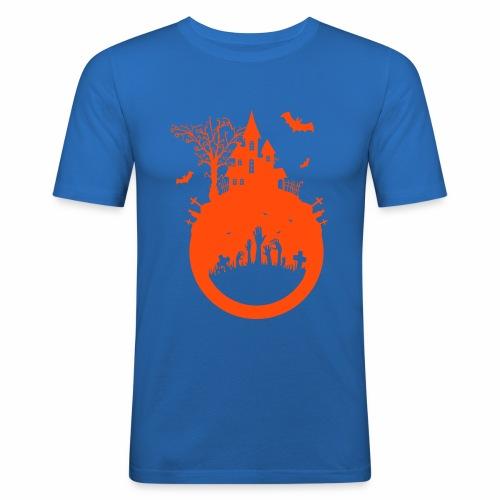 Halloween Design - Das Spukhaus - Männer Slim Fit T-Shirt