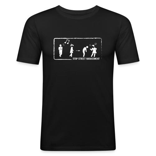 Stop street harassment: whistling - Men's Slim Fit T-Shirt